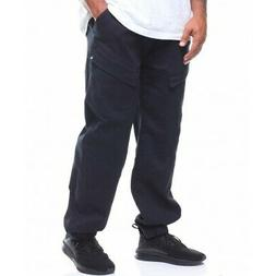Rocawear Men's Woven Jogger Stretch Black Pants Big and Tall