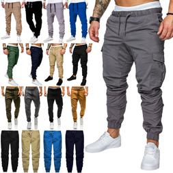 Men Slim Fit Bottom Trousers Joggers Cargo Combat Sport Jogg