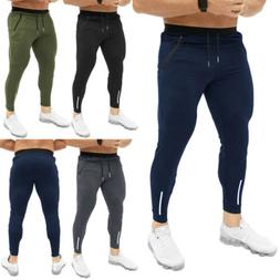 Men Sport Pants Long Trousers Tracksuit Fitness Workout Jogg