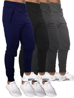 MEN WOMEN UNISEX PLAIN FRENCH TERRY JOGGER GYM WORKOUT HOUSE