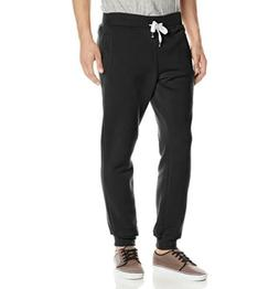 Southpole Mens Active Basic Jogger Fleece Sweat Pants: Black