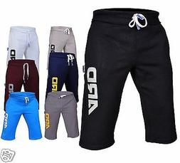 Mens Cotton Fleece Shorts Jogging Casual Home Wear MMA Boxin