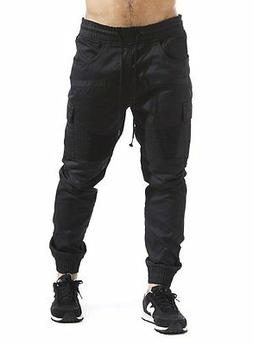 Mens Cotton Twill Joggers With Cargo Pockets Size L