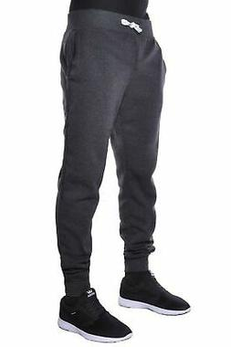 Hat and Beyond Mens Fleece Jogger Pants Elastic Active Basic
