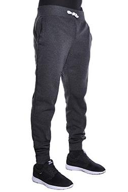 Hat and Beyond Mens Fleece Jogger Pants Elastic Drawstring A
