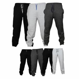 Mens Fleece Joggers Trousers Tracksuit Bottom Casual Exercis