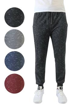 Mens French Terry Jogger Pants Active Knit Lounge Zipper Poc