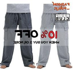 PROCLUB PRO CLUB MENS HEAVYWEIGHT CARGO SWEATPANTS 5 POCKETS