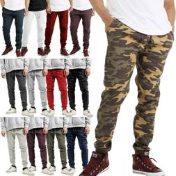Mens Jogger Pants SOFT Fleece Sweatpants Gym Slim Fit Hip Ho