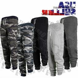 Mens Casual Joggers Pants Sweatpants Terry Stretch CAMO Gym
