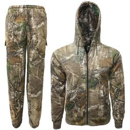 Mens/kids Forest Camouflage Tracksuit Hoodie & Jogger Full S