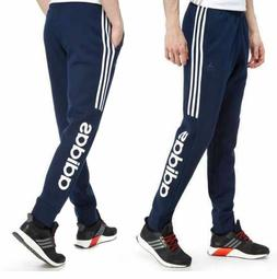 MENS ADIDAS NAVY FLEECE SLIM FIT SPORTS GYM JOGGERS PANTS AC