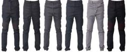 Victorious Mens Raw Denim Biker Joggers New Jogger Pants JG8