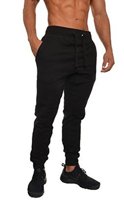 YoungLA Mens Slim Fit Joggers Fitness Activewear Sports Flee