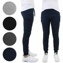 Mens Slim-Fit Joggers With Zipper Pockets Sports Active Gym