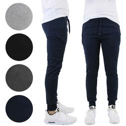 Mens Slim-Fit Joggers With Zipper Pockets French Terry Runni