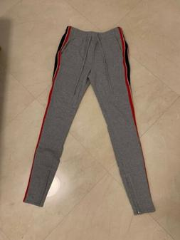 PacSun Mens small joggers/sweat pants skinny side stripe red