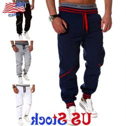 mens sport pants long tracksuit gym fitness