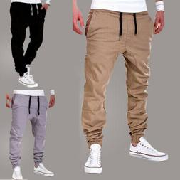 Mens Joggers Sport Pants Long Trousers Running Gym Slim Fit