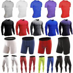 Men''s Sports Compression Shorts Pants Shirts Workout Ba