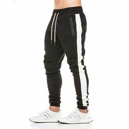 Mens Sweatpants Cotton Gyms Fitness Workout Solid Trousers J