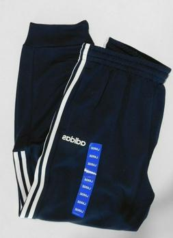 Adidas Mens Tapered Joggers ClimaLite 3 Stripe Blue Size LAR