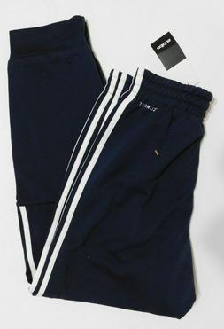 Adidas Mens Tapered Joggers ClimaLite 3 Stripe Blue Size SMA