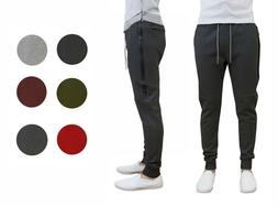 Mens Tech Fleece Joggers Active Performance Pants - Slim Fit