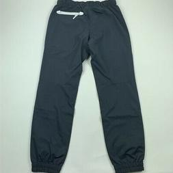 ASICS Mens Track Pants Gray Lined Drawstring Zipper Pockets