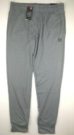 Under Armour Mens XL Logo Gray Rival Loose Fit Running Jogge