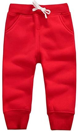 Mom's care Unisex Kids Fleece Sports Jogger Pants For Todd
