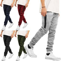 Mens JOGGER Pants Sweatpants Slim Fit Polyester Casual Fleec