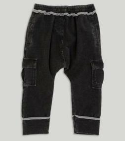 NEW 5T Afton Street Knit Denim Cargo Jogger Pants - Vintage