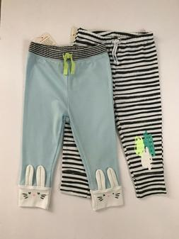 New Baby Boy 2-pk Pants 12 Months Joggers Clothes