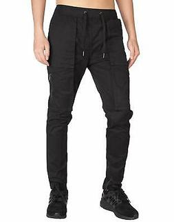 Italy Morn NEW Black Mens Size Large L Jogger Zip Ankle Stre