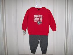NEW! CONVERSE BOYS 2-PC.RED FLEECE HOODIE & JOGGER SET SIZE