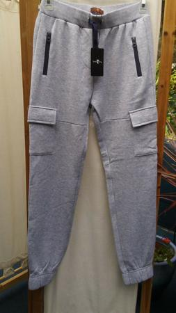 New 7 For All Mankind Boys Gray Jogger Sweat Pants L