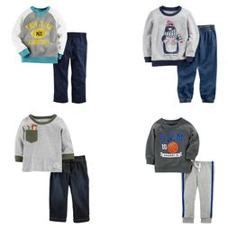New Carter's Baby/Toddler Boys' 2 Pc Long Sleeve Shirt/Jogge