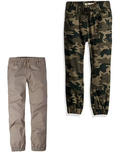 NEW Levi's Boys' Chino Jogger Pants - GREEN CAMO / KHAKI