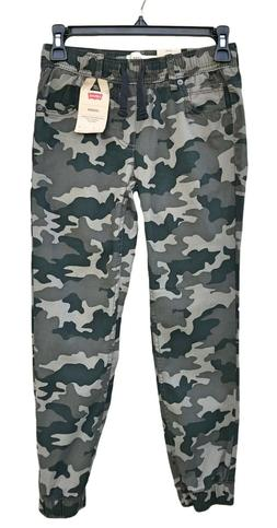 NEW Levi's Boys Chino Jogger Stretch Pants GREEN CAMO 8 to 1