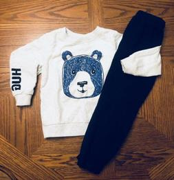 NEW LITTLE BOYS CARTERS BEAR SWEATSHIRT & Joggers Size 5T Ne
