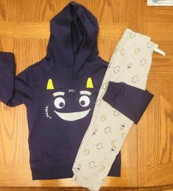 New Little Boys Toddler Size 5T Monsrer Hoodie And Joggers S