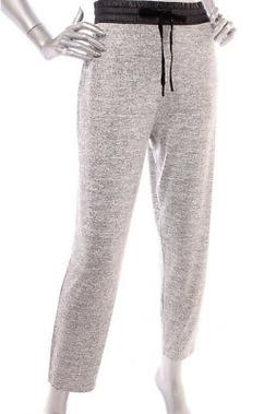 NEW Lou & Grey Women Elastic Waist Tapered Twill Joggers Pan