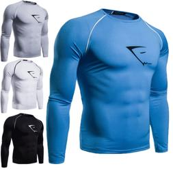 New Men's Gym Sport Running Jogger Stretch T Shirt Fitness M