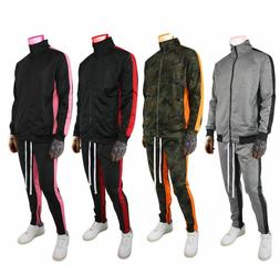 NEW Men Stripe Track Pants jogger pants and jacket Tracksuit