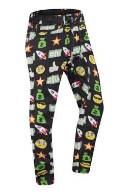NEW Men Twill Emoji Joggers Pants ALL SIZES Stretchy Drop Cr