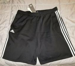 New Adidas Mens Jogger Fleece Short Size XL. Black with whit