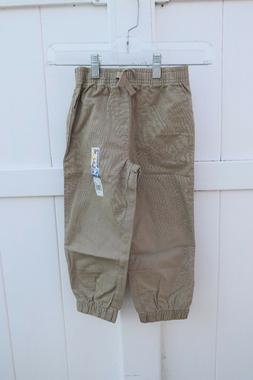 New Garanimals Pants Sz 4T Boys Tan Jogger Ripstop Elastic W