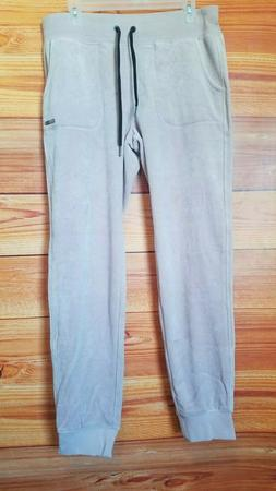 NEW Calvin Klein PERFORMANCE VELOUR LOGO CUFFED JOGGERS wome