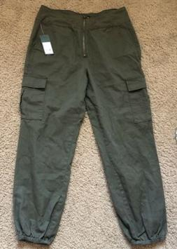 NEW Wild Fable Women's High-Rise Zip Front Cargo Jogger Pant
